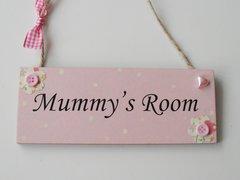 mummys Room wooden plaque