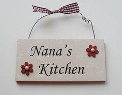 Nana's Kitchen Door Plaque