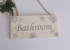 Bathroom Wooden Plaque Spring design
