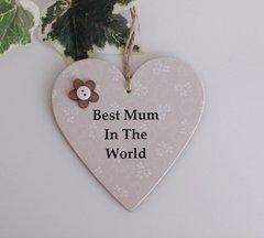 Best Mum in the world wooden Plaque