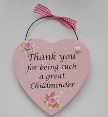 Thank you Childminder