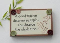 Good teacher thank you little wooden freestanding plaque
