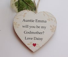 Will You Be My Godmother Personalised Gift Wooden Plaque