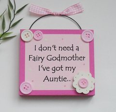 Auntie Keepsake Wooden Gift Plaque