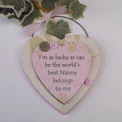 Nanny Gift Heart Keepsake