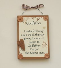 Godfather Keepsake Wooden Plaque