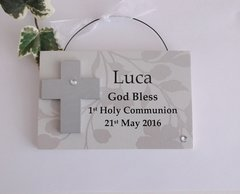 First Holy Communion Wooden Plaque