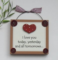 Love you Craftworks OriginalGift Plaque