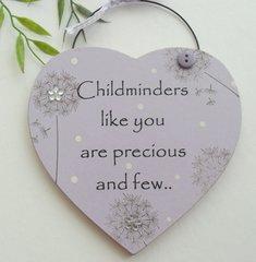 Childminder Gift Heart Pink Dandelion Collection
