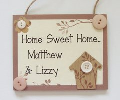 New Home Personalised Wooden Plaque/Sign