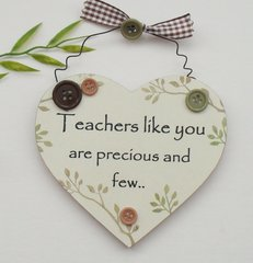 thank you Teacher Gift Heart