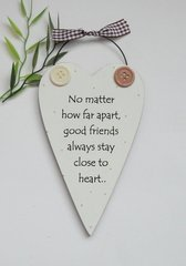 Best Friends Wooden Heart keepsake Gift Plaque/Sign