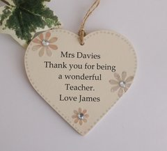 Personalised Teacher Wooden Gift Plaque