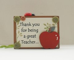 Thank You Teacher Free Standing Keepsake Gift