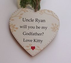 Will You Be My Godfather Personalised Gift Wooden Plaque