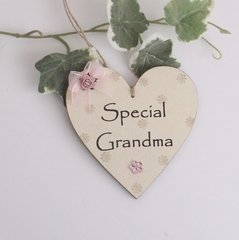Special Grandma Wooden plaque/Gift Tag