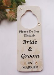 Do Not Disturb Bride & Groom Door Hanger