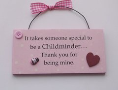 Childminder Cute Wooden Plaque
