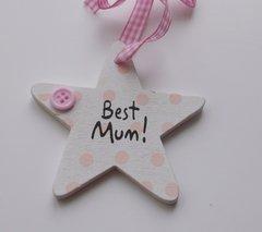 Cute Little Best Mum Wooden Gift Tag