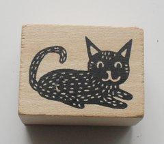 Woodland Fox wooden Rubber Stamp