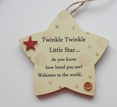 Twinkle Twinkle Baby Gift Plaque Neutral