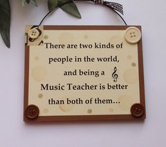 Music Teacher wooden Gift Plaque