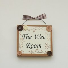 The Wee Room Cloakroom/ Toilet Wooden Plaque