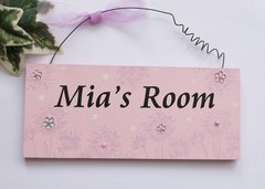 Spring design Bedroom Door Plaque