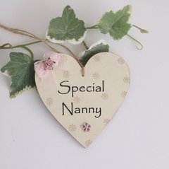 Special Nanny Wooden plaque/Gift Tag