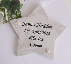New Baby Keepsake Wooden Gift Plaque