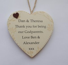 Thank you for being My/0ur Godparents Personalised Gift Wooden Plaque