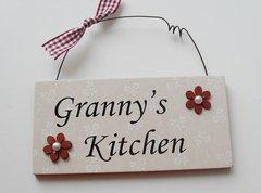 Granny's kitchen Door Plaque
