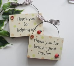 Twin Teacher and Teaching Assistant plaques
