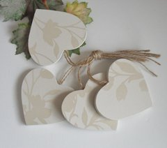 Wooden Hearts Ready to Decorate set of 4