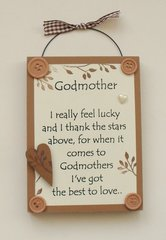 Godmother Wooden Plaque