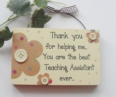 Teaching Assistant Gift Plaque
