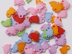Baby Shower Multicoloured Pitter Patter Baby Feet Pack to Decorate