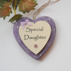 Special Daughter Keepsake Heart