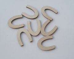 Mini Wooden Horseshoe Wooden Shapes pack of 7