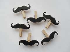 Moustache pegs Pack of 5