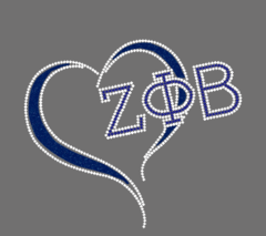 Love Zeta Phi Beta Heart