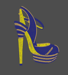 sigma gamma rho Blue and Yellow Shoe