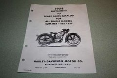 99452-58 1958 Spare Parts Catalog Supplement