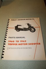 USED Harley Davidson Topper Parts Manual 1960 1961 1962