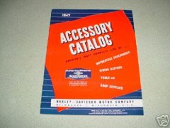 1947 Harley Davidson Accessory Catalog