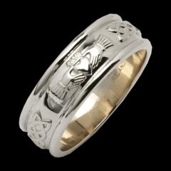 Ring - Claddagh Celtic Band - Size 6 - Fado #R126