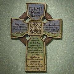 Wall Decor - Irish Bedtime Blessing Cross
