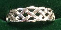 Ring - Celtic Band - Wedding - Cara Irish - 14ct WG - Size 6 1/2