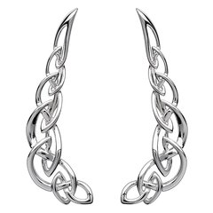 Earrings - Celtic - Climber Earrings - Silver - Shanore SW79