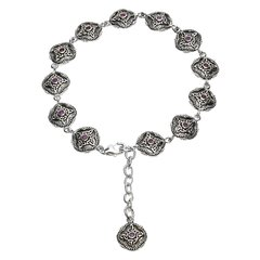 Bracelet - Celtic Trinity Amethyst Tribal - Sterling - Shanore #SB2211AY
